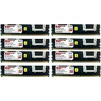 Komputerbay - Modulo FB-DIMM DDR2 PC2-5300F 667 MHz CL5 ECC 2Rx4 a 240 pin con dissipatori di calore 32GB (8x4GB) 667Mhz HS
