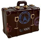 Spardose Reisekoffer 2 Modelle zur Auswahl, Farbe:braun