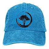 Eriesy Gorra de béisbol Hip Hop Sombreros Unisex Bonsai Tree Washed Denim Baseball Cap Golf Hat Adjustable Snapback