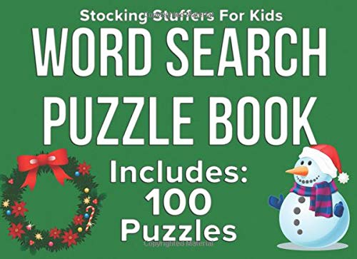 Stocking Stuffers for Kids: Word Search Puzzle Book Includes 100 Puzzles