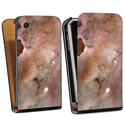 Apple iPhone 4 Housse Étui Silicone Coque Protection Galaxie Espace La colonne de poussière du brouillard Carina Sac Downflip noir