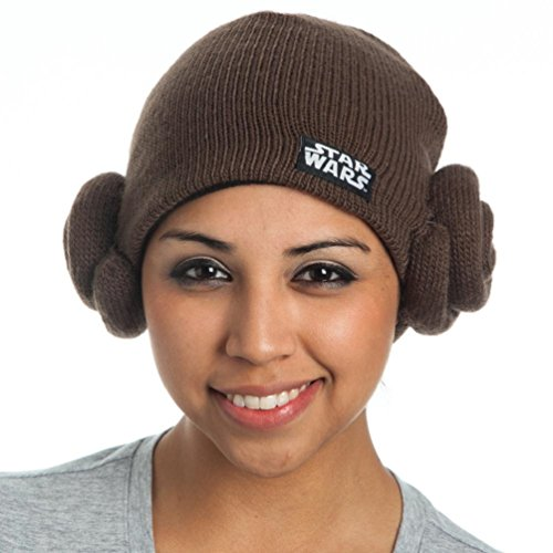 Disney Princess Kostüm Teen - Star Wars Princess Leia Buns Adult Costume Knit Hat