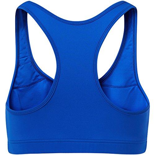 Sportkind Mädchen & Damen Sport / Tennis / Fitness BH mittlerer Halt Kobaltblau