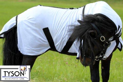 Fliegendecke Mini Pony Minipony Shetty Minishetty NUR KLETT 75 80 85 90 cm ! Fohlendecke abnehmbares Heilsteil (90)