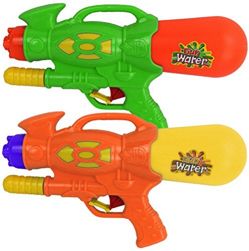 2-x-super-spray-30cm-pump-action-water-gun-pistol-soakers