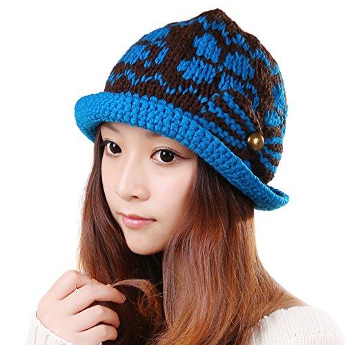 Chapeaux de dames coréen/Chapeau de laine féminin/Chapeau chaud de mode/Bonnet tricoté C