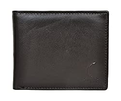 Chandair Genuine German Leather Black & Brownish Shade Stylish Mens Wallet for Men (CH-NW-05)