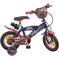 Toimsa–Bicicleta para niños bajo licencia Spiderman 12pulgada (de 3a 5años, 872U