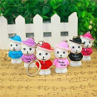 Airgoesin 20pcs Keychain Key Ring Hang Paddington Brown Bear Cute Shop Promo Gift Accessories for Bags & Purses