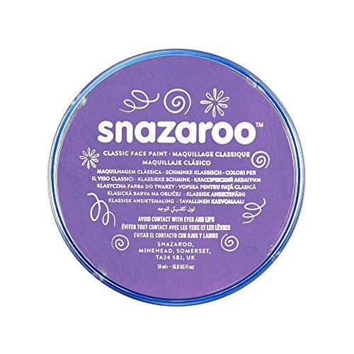 Snazaroo - Pintura facial y corporal, 18 ml, color lila