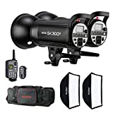 #8: Godox SK300II Kit Including 2 x Flash Head Kit with 2 x Softboxes, 1 x XT-16 Trigger, 2 x Reflectors and Carrying Bag