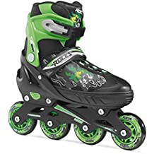 Roces Inline de patines en línea Compy 6.0, de Black Light Green, 30–33, 400808