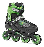 Roces Jungen Inline-Skates Compy 6.0, Black-Light Green, 34-37, 400808