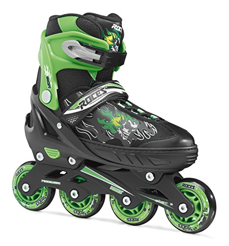 Roces Jungen Inline-skates Compy 6.0, black-light green, 26-29, 400808