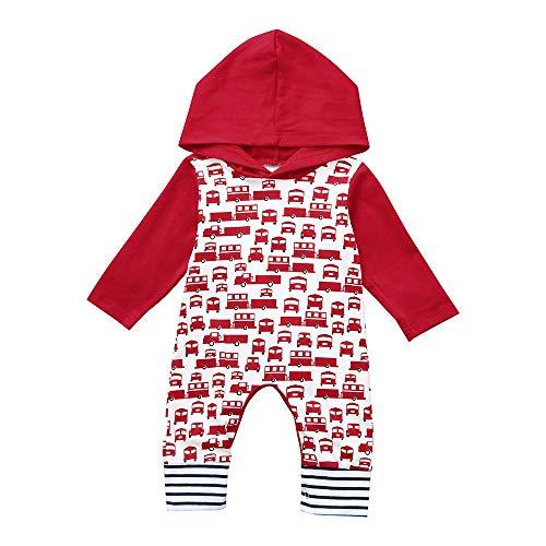 ALISIAM Winter Weihnachten Baby Kleiner Junge Mode Freizeit Gemütlich Hautfreundlich Warm halten Lange Ärmel Mit Kapuze Drucken Strampelhöschen Kriechender Anzug Kinderkleidung