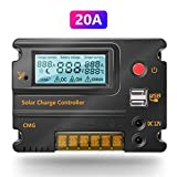 Fuhuihe 20A 12V 24V Solar Charge Controller Auto Switch LCD Intelligent Panel Battery