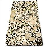 ewtretr Toallas De Mano, Alphonse Mucha Microfiber Beach Towel Large & Oversized - 11.8