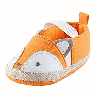 Igemy Baby Girl Fox Shoes Sneaker Anti-slip Soft Sole Toddler Shoes (12~18 Month, Yellow)