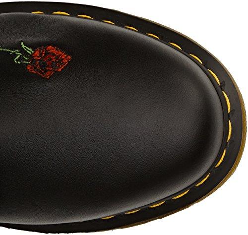 Dr. Martens VONDA Embroidery Damen Bootsschuhe Schwarz (Black)