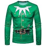 TIFIY Herren Weihnachtspullover Herbst Winter Hässliche Sweatshirt Kapuzenpulli Druck Top Herren Langarm T-Shirt Bluse Vintage Oberteile (B,EU 52/CN 2XL)