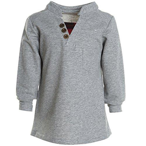 BEZLIT Kinder Jungen Langarm T Shirt Bluse Sweat Long Sleeve Shirt Polo 20991 Grau Größe 140 - Jungen Langarm-polo-shirt