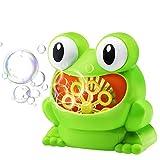 Seifenblasen Maschine Automatisch - Frosch Bubble Maker Spielzeug für Baby Kids Geburtstagsgeschenk Party Gefälligkeiten