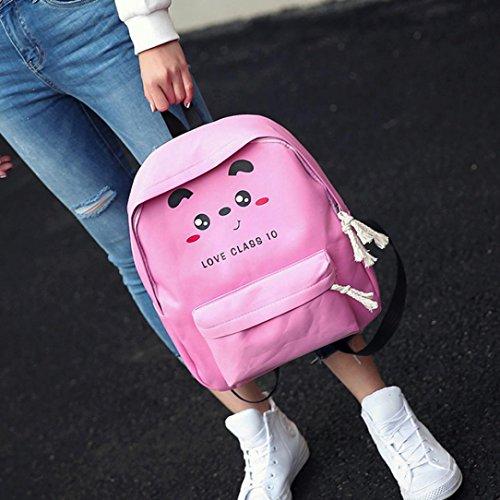 Bzline® Baby Boys Ragazze Zipper Con Cerniera Borsa A Tracolla Moda Zaino Rosa 2