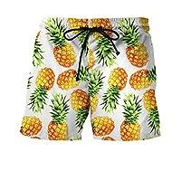 Männer 3D Ananas Print Shorts kreative Print Jugend Mode plus Größe Shorts europäische Größe S-4xl