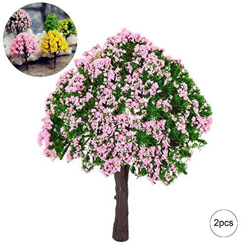 Xiton Applikation Miniatur Garten Fee Ornament Flower Pot Blumentopf Home Decor 2Baum Set -