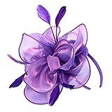 Homyl 1920s Haarschmuck Fascinator Haar Clip Haar Accessoire Tea Party Hochzeitskirche Kopfbedeckung - lila