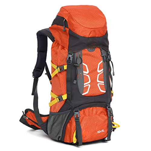 Bergsteigen Tasche Outdoor Camping Zelt Reise Wandern Paket Sporttasche,Red Orange