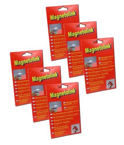 GEV Magnetolink für Rauchmelder - 6er Pack (Rauchmelder-6er Pack)
