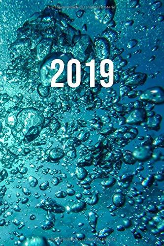 2019: Jan - Dez Wochenplaner | 365 Tage Terminkalender mit Uhrzeit | 1 Tag auf 1 Seite, ca. A5 | Scuba Unterwasserwelt