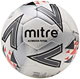 mitre Ultimatch Futsal Football Mixte, Blanc/Rouge/Noir, 4