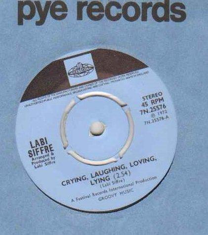 LABI SIFFRE - CRYING LAUGHING LOVING LYING - 7 inch vinyl / 45 -