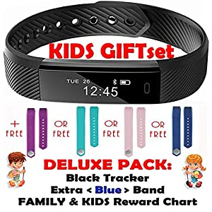 513H%2Be%2Bl9zL. SS300  - TRENDY PRO Kids Fitness Activity Tracker for Children Adults - Smart Wristband Watch 2 Bands