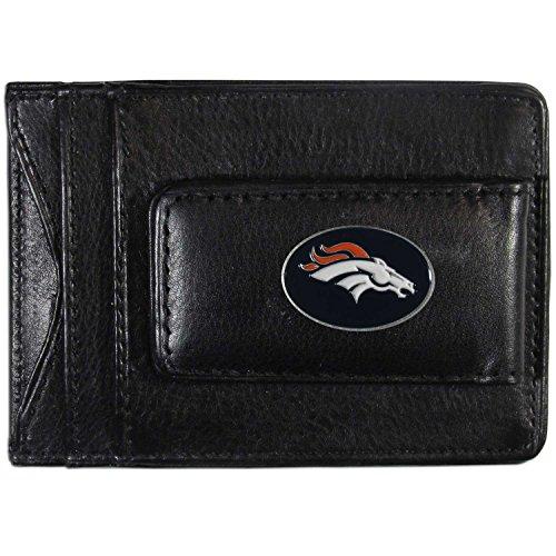 Siskiyou NFL-Kartenhalter aus Leder, Damen Herren, Denver Broncos, Each