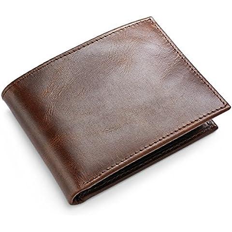 Croft&Barrow 31CB22X013 Cartera de billetera de cuero marrón para hombre