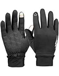 HiCool Touch Screen Gloves Homme/Femme Gants pour Écran Tactile Anti-glissant pour Cyclisme, Conduite, Fitness, Photographie