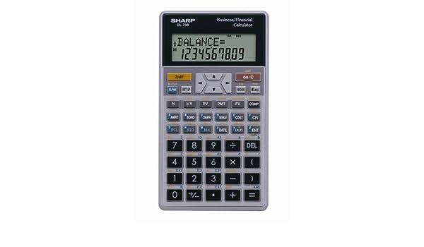 sharp el 738c 10 digit financial calculator amazon in electronics rh amazon in sharp el 738 financial calculator user manual Sharp EL 733A User Manual