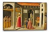 Printed Paintings Impression sur Toile (100x70cm): Bicci di Lorenzo - Saint Nicolas ressuscitant