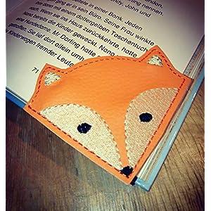 """Leseecke Lesezeichen""""Fuchs"""" personalisierbar Lesen Buch Leseratte Hobby Lesehilfe Buchecke Fox"""