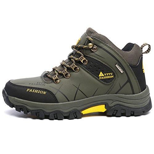 Laiwodun Botas de Senderismo Hombre, Zapatillas Deporte Outdoor, Zapato de Senderismo Deportes al Aire Libre Montañismo Botas Nieve