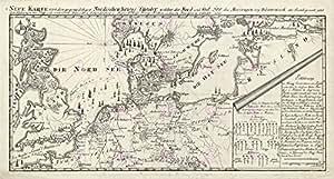 Carte Antique napoléoniennes Guerre Europe du Nord 1801Reproduction Poster Print pam1150