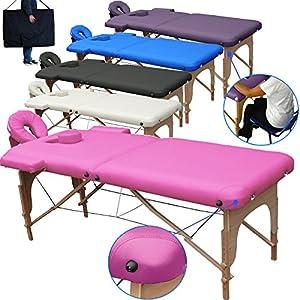 Beltom Mobile Massagetisch Massageliege Massagebank 2 zonen klappbar THERAPIELIEGE +TA. – Pink