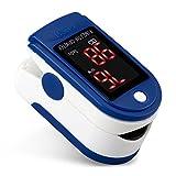 OXOQO Pulsossimetro da dito, monitor portatile di ossigeno nel sangue per...