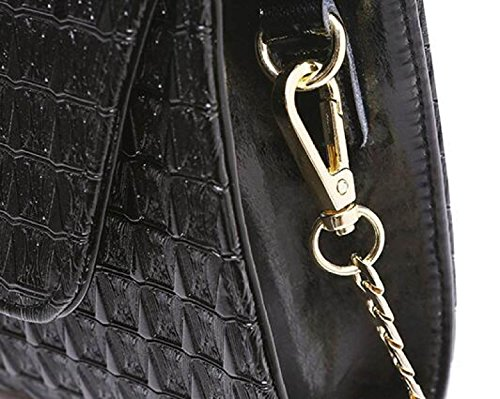 FZHLY High-End-Bankett-Paket D-Lock Schnalle Leder Abendessen Clutch ChampagneGold