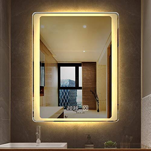Badezimmerspiegel Mit Beleuchtung, Beleuchteter Led-Waschtisch 800 X 600 Mm Mit BerüHrungssensor, Horizontales/Vertikales WeißEs Licht Und Warmes Licht