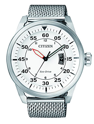 Citizen Men's Quartz Watch with Black Dial Analogue Display Quartz Stainless Steel AW1360 55 A