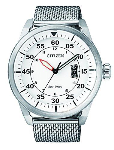Citizen da uomo orologio da polso al quarzo acciaio inossidabile AW1360–55A